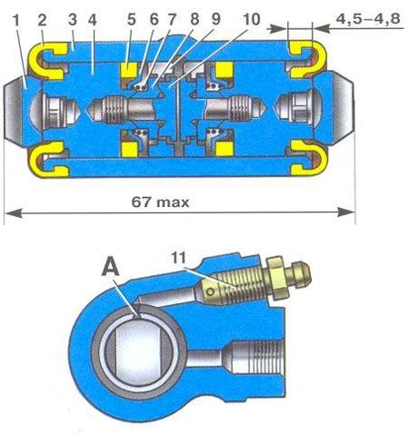 Задний колесный тормозной цилиндр ВАЗ-2109