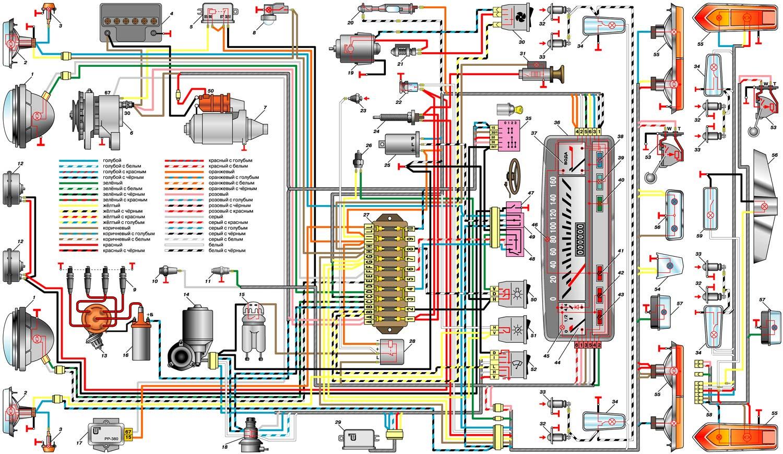 схема включения датчика тормозной жидкости ваз 2107