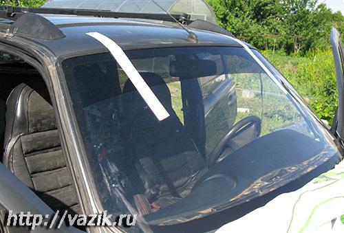 Самостоятельная вклейка ветрового стекла ВАЗ-2123