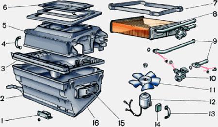 электросхема охлаждения двигателя