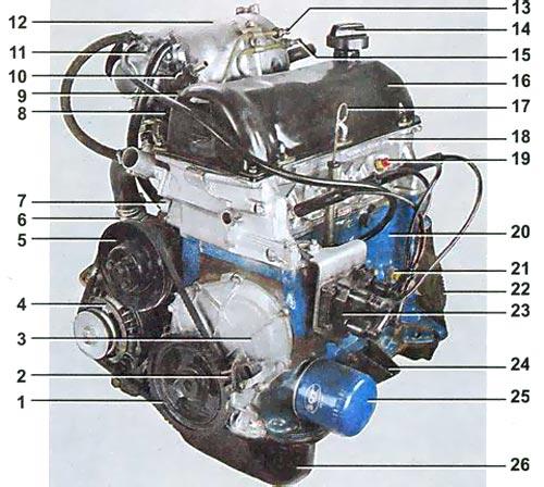 автомобиля ВАЗ-2107