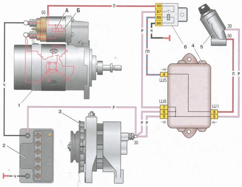 Реле поворотов схема газ 52